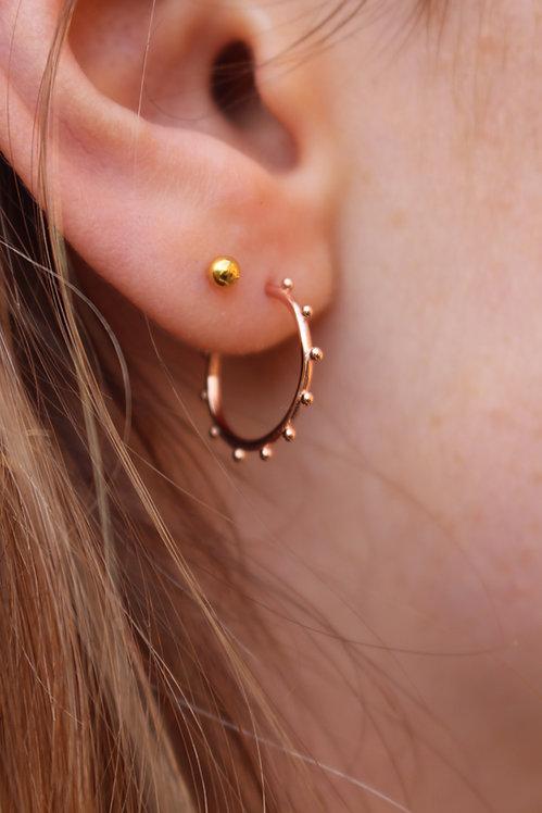 Mini Bobble Hoop Earrings