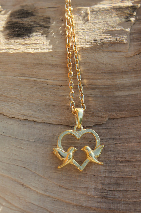 Gold Plated Love Bird Necklace