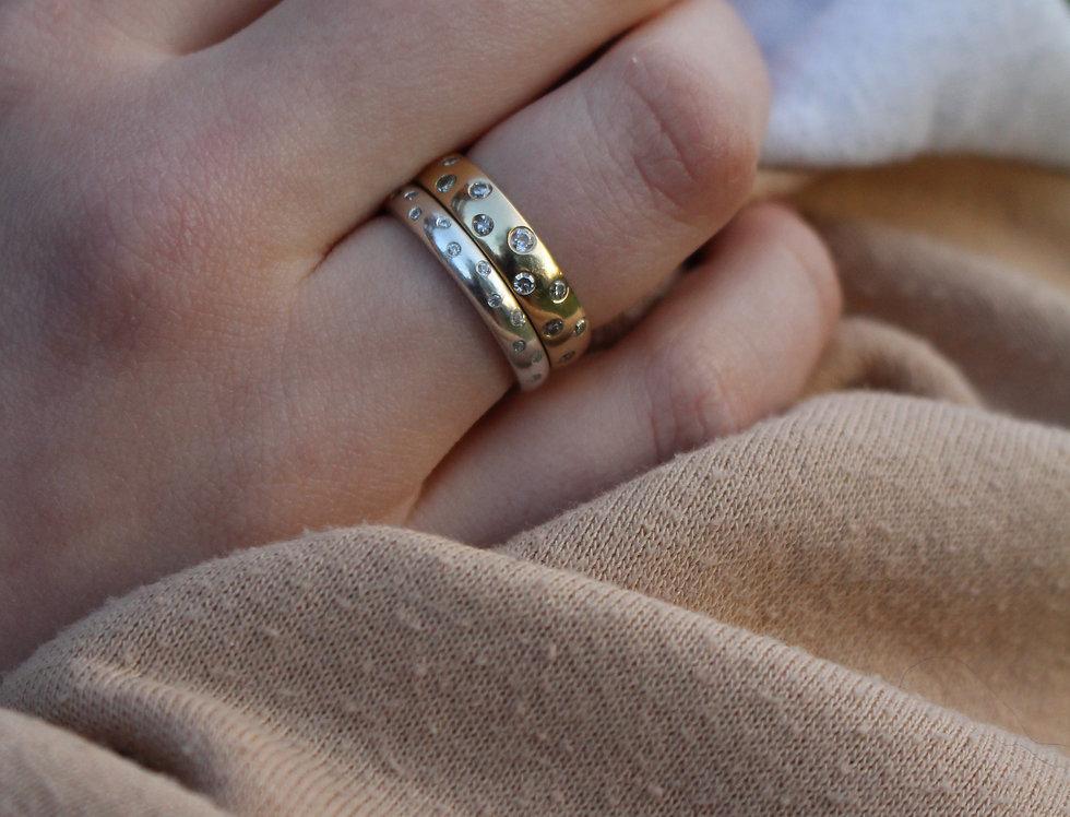 Diamond Staggered Set Ring