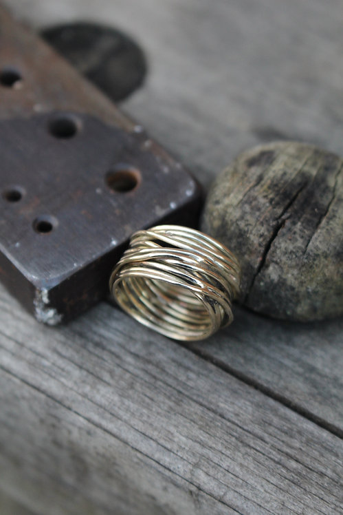 Solid Gold Wrap Ring