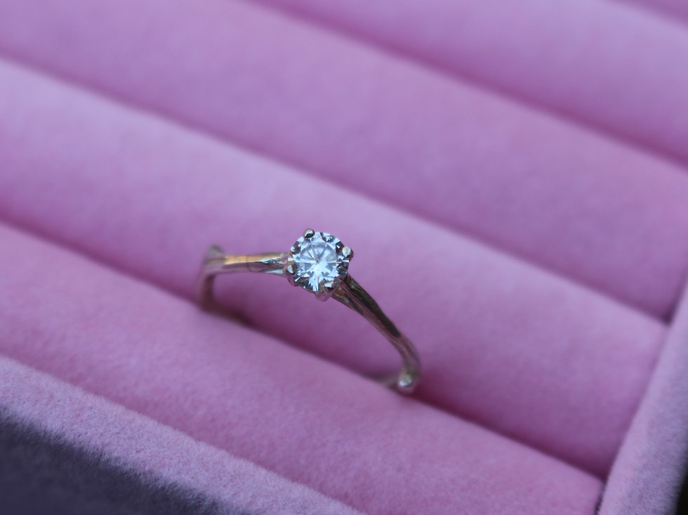 0.50ct Claw Twig Engagement Ring