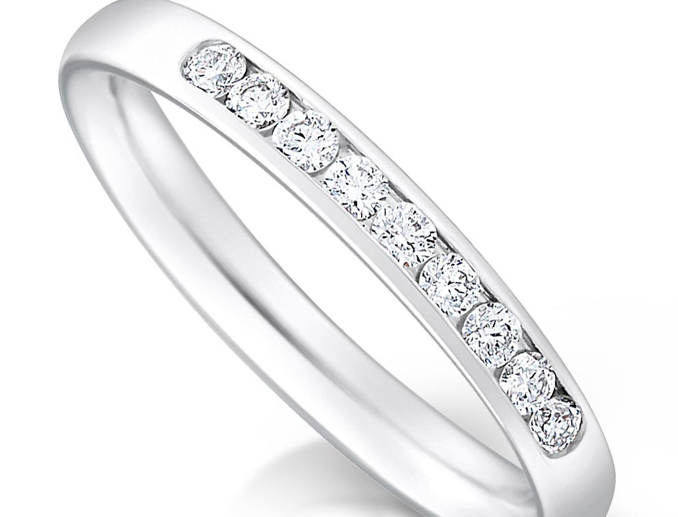 Quater Channel Set Diamond Ring