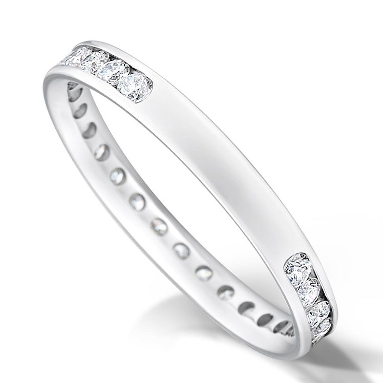 3/4 Channel Set Diamond Ring