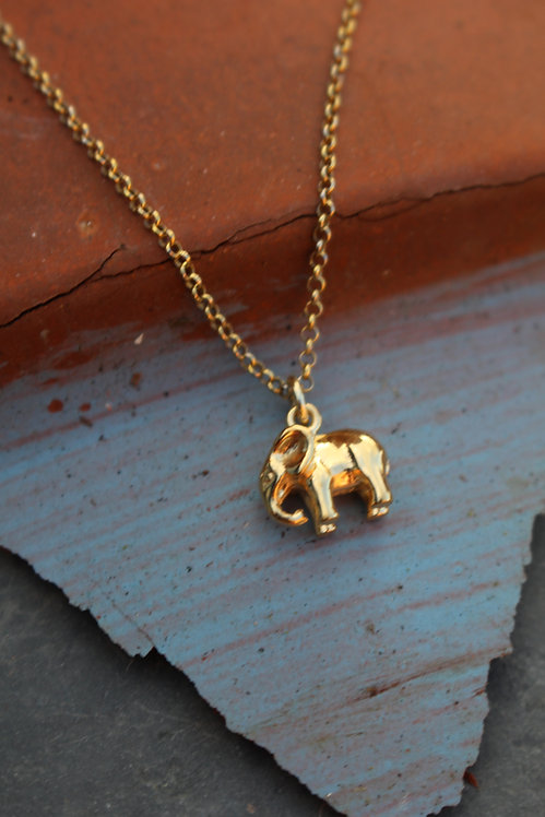 Golden Elephant Necklace