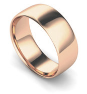 9ct Rose Gold 8mm Traditional Court Wedding Band