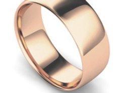 18ct Rose Gold 8mm Traditional Court Wedding Band