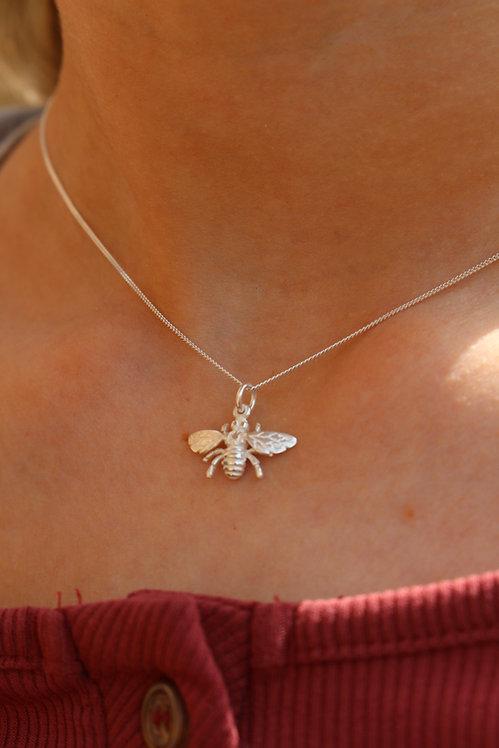 Silver Small Wasp Pendant