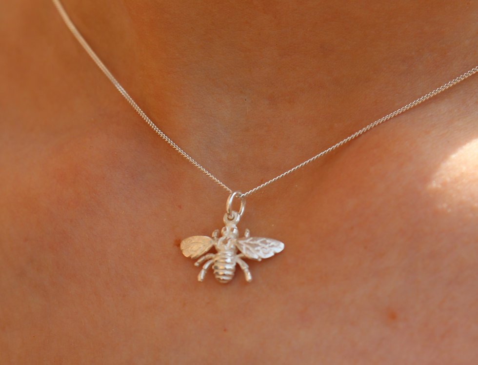 Silver Small Wasp Pendant