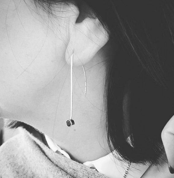 Silver  Dot Earrings