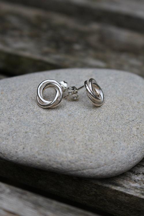 Large Celtic Love Knot Studs