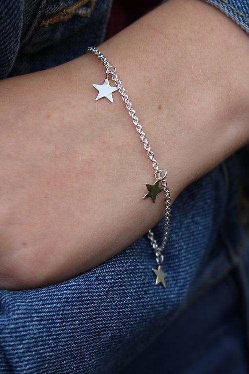 Silver Star Charm Bracelet