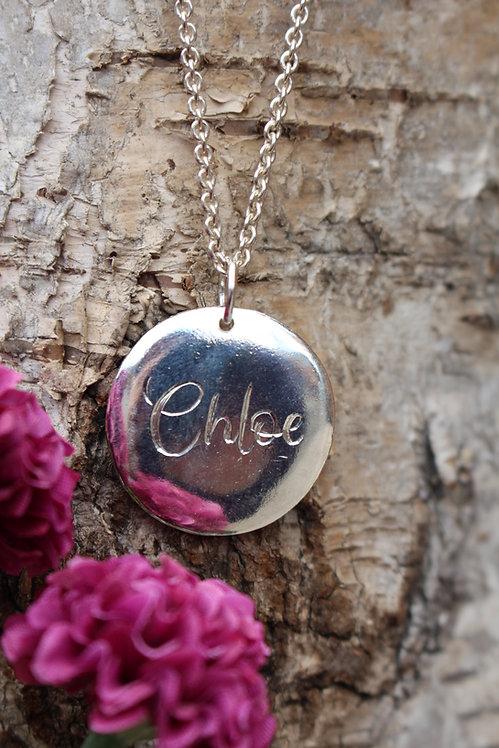 Script Name Disc Necklace