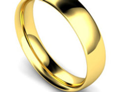 18ct Yellow Gold 5mm Traditional Court Wedding Band