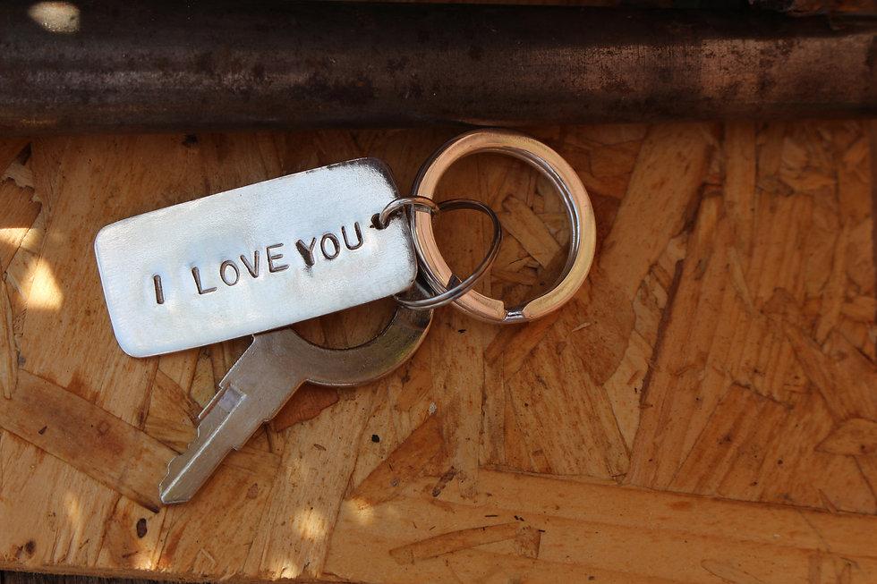 Silver Tag Key Ring
