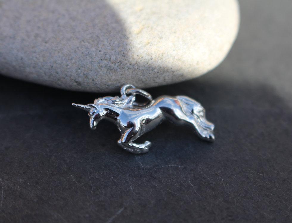 Silver Unicorn Charm
