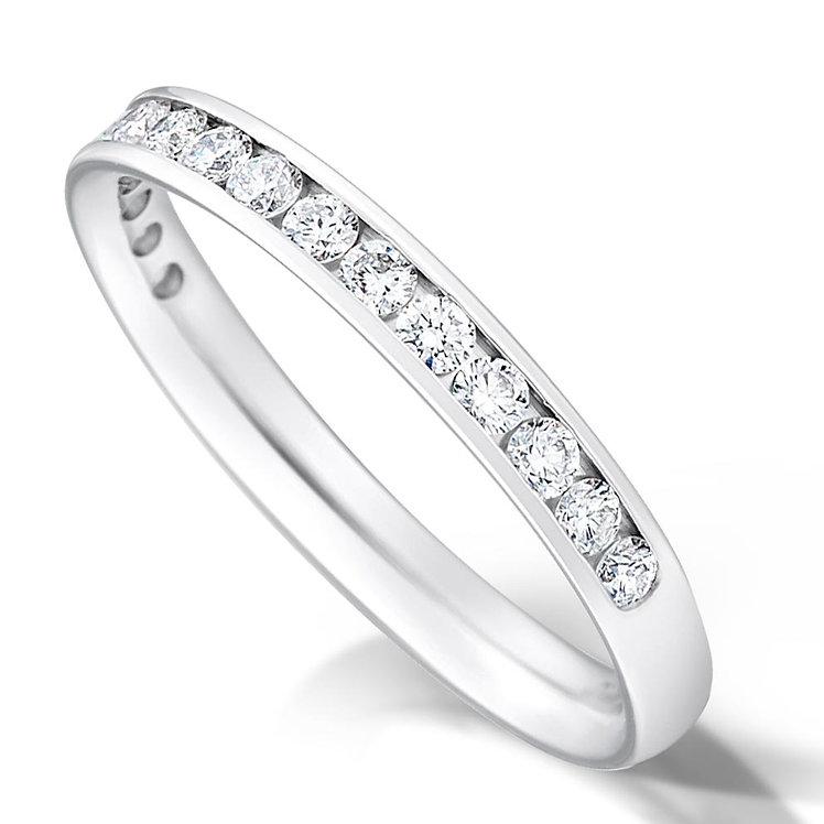 Half Channel Set Diamond Ring