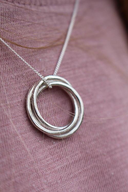 Silver Celtic Love Knot Necklace