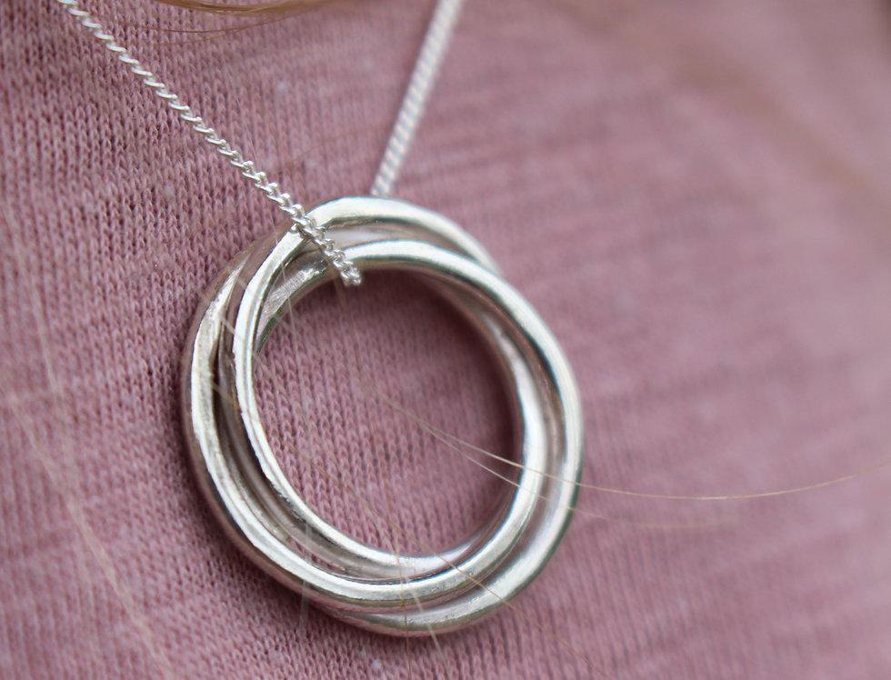Silver Celtic Love Knot Necklace