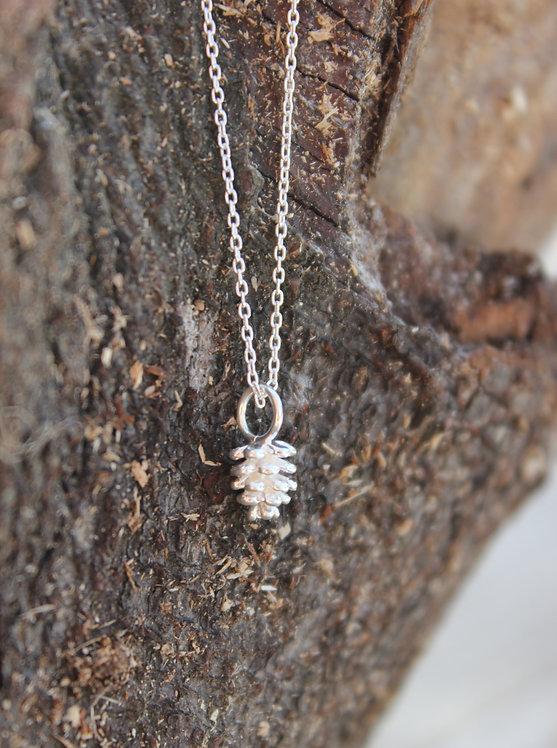 Silver Pinecone Pendant