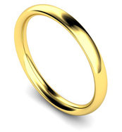 18ct Yellow Gold 2.5mm Traditional Court Wedding Band