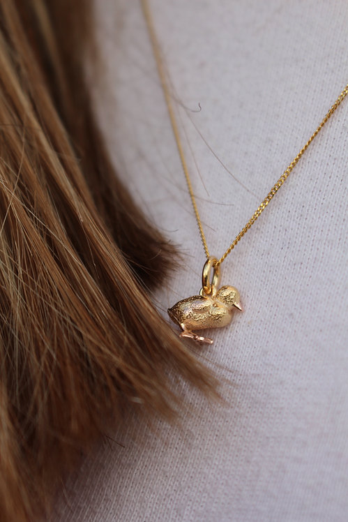 Tiny Duckling Necklace