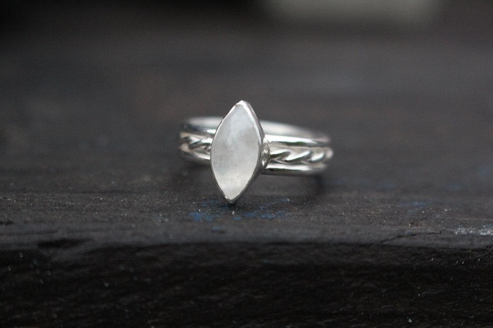 Silver Moonstone Sophia Ring