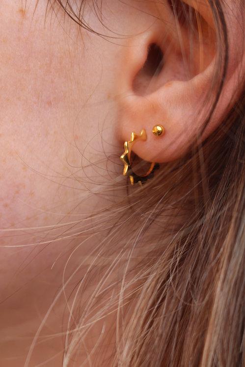 Sun Burst Hoop Earrings