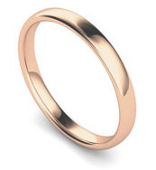 18ct Rose Gold 2.5mm Traditional Court Wedding Band