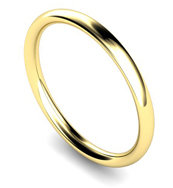 9ct Yellow Gold 2mm Traditional Court Wedding Band