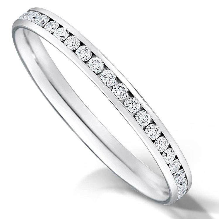 Thin Full Channel Set Diamond Ring