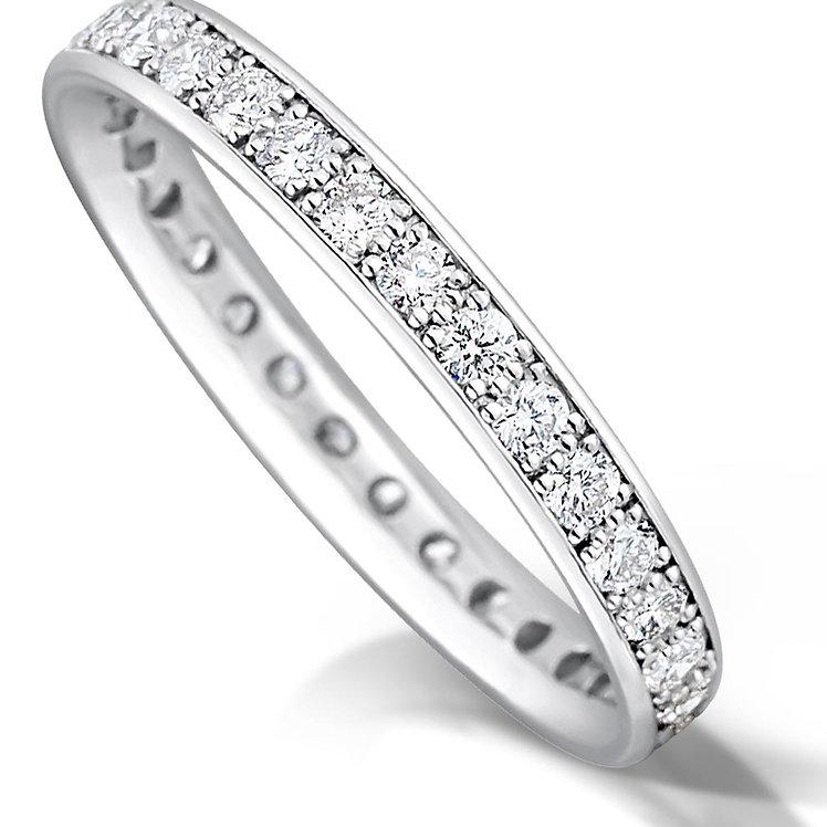 Full Pave Set Diamond Ring