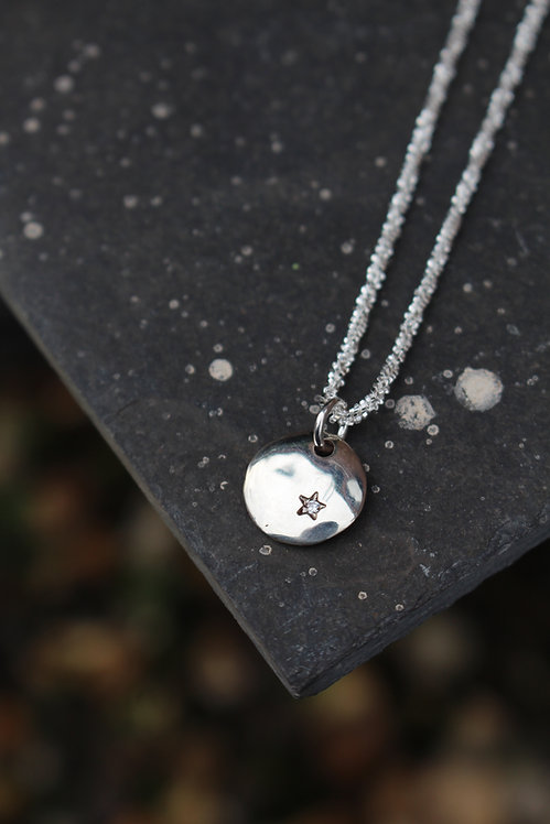 Silver Star of Hope Necklace