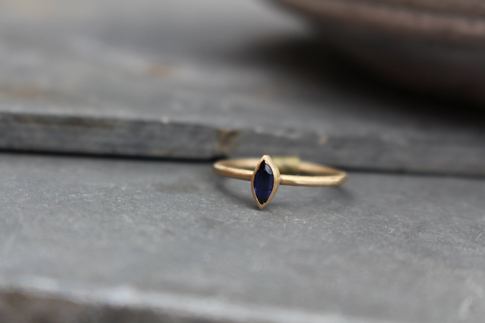 Yellow Gold Marquise Sapphire Ring