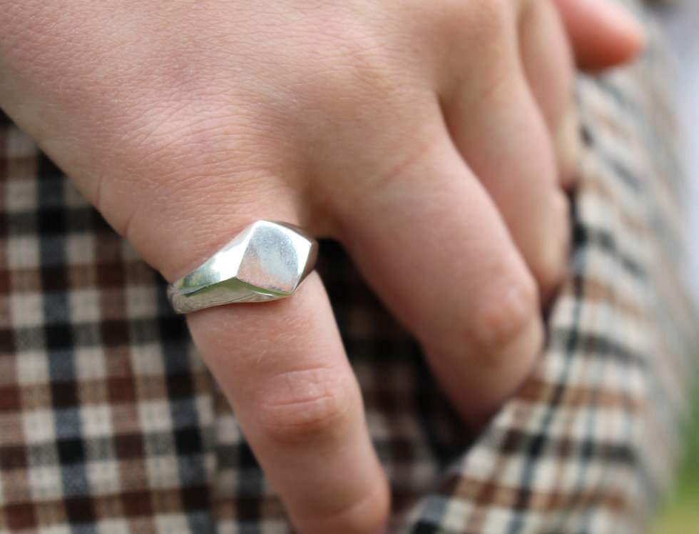 Faceted Signet Ring
