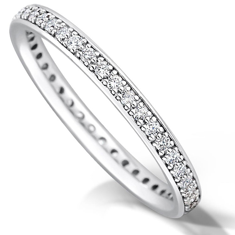Thin Full Pave Set Diamond Ring