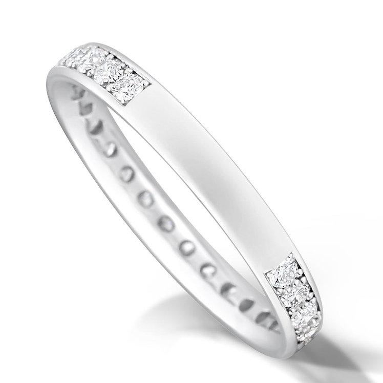 3/4 Pave Set Diamond Ring