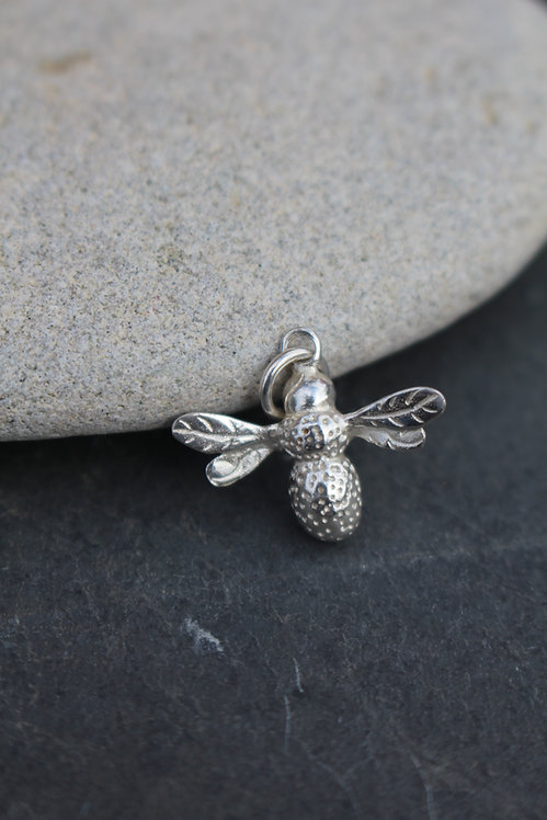 Silver Bumble Bee Charm