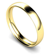 9ct Yellow Gold 4mm Traditional Court Wedding Band