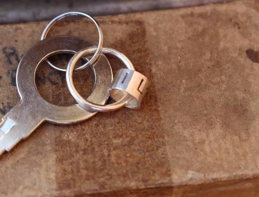 Silver Hoop Key Ring