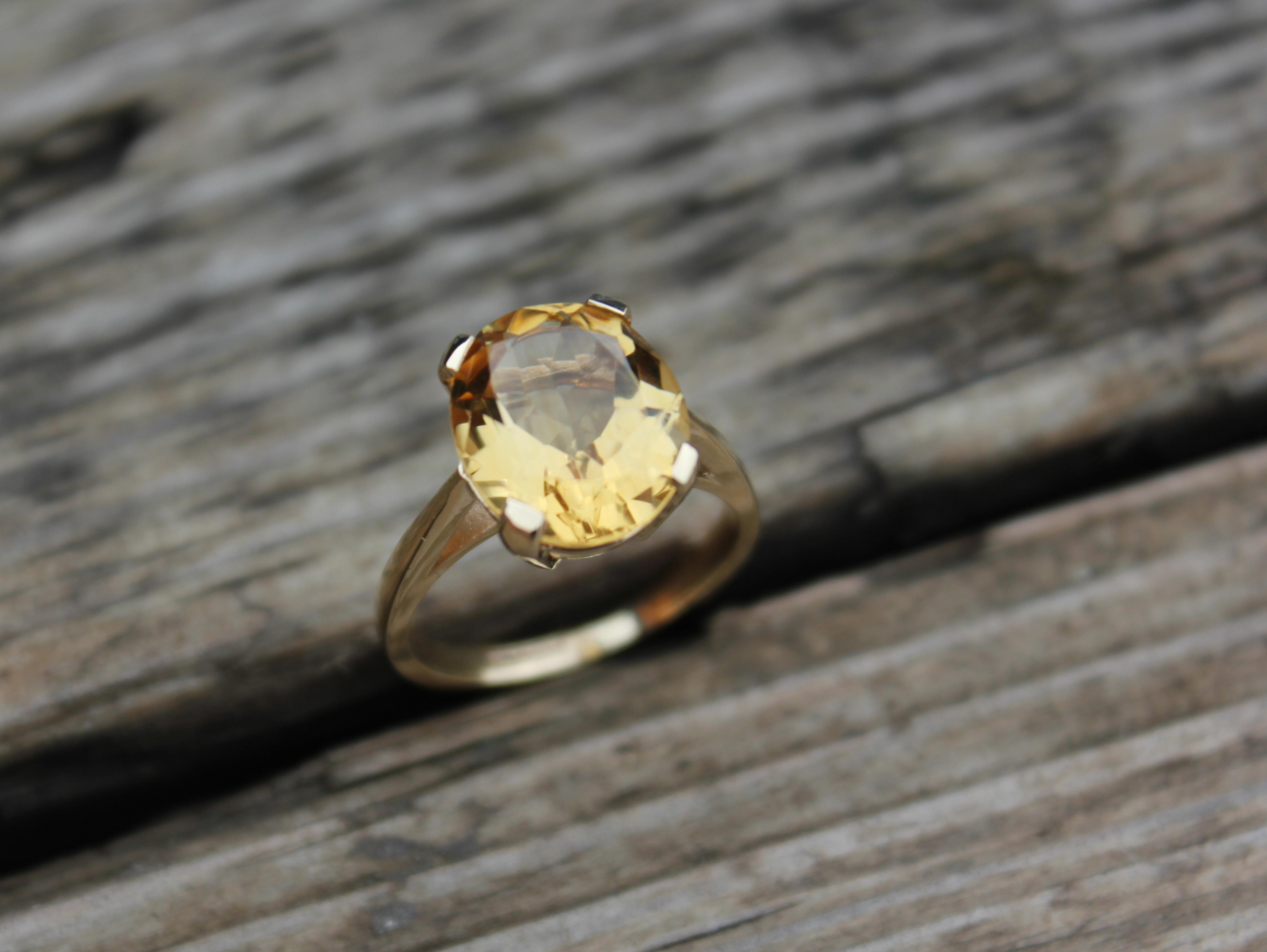 B-Jewellery yellow gold citirine 1