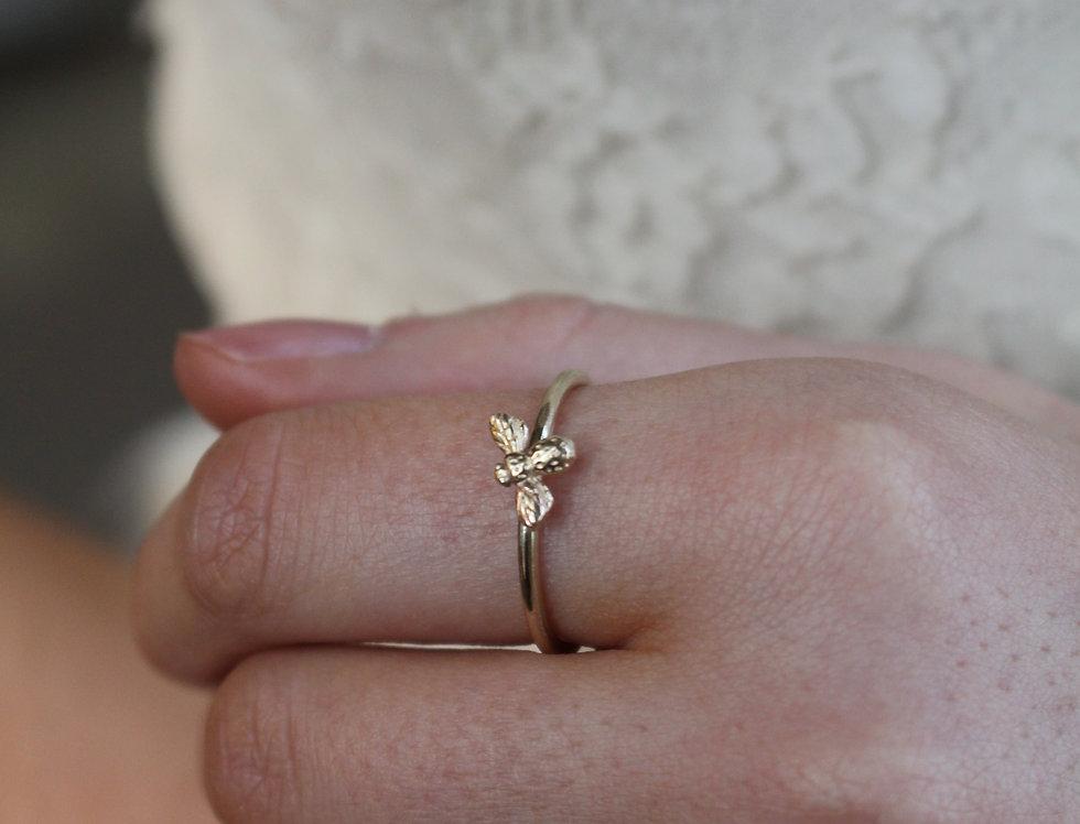 Gold Tiny Bee Ring