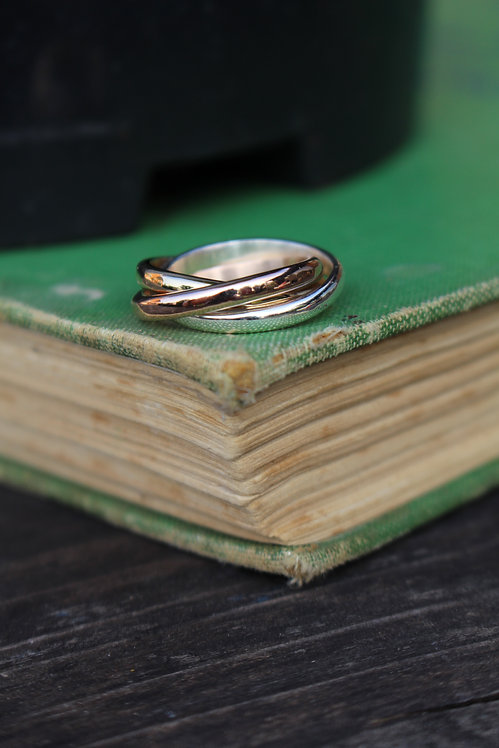 Mixed Gold Russian Ring
