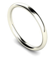 Silver 2.5mm Traditional Court Wedding Band