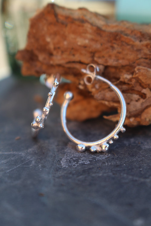 Rocky Road Small Hoop Earrings