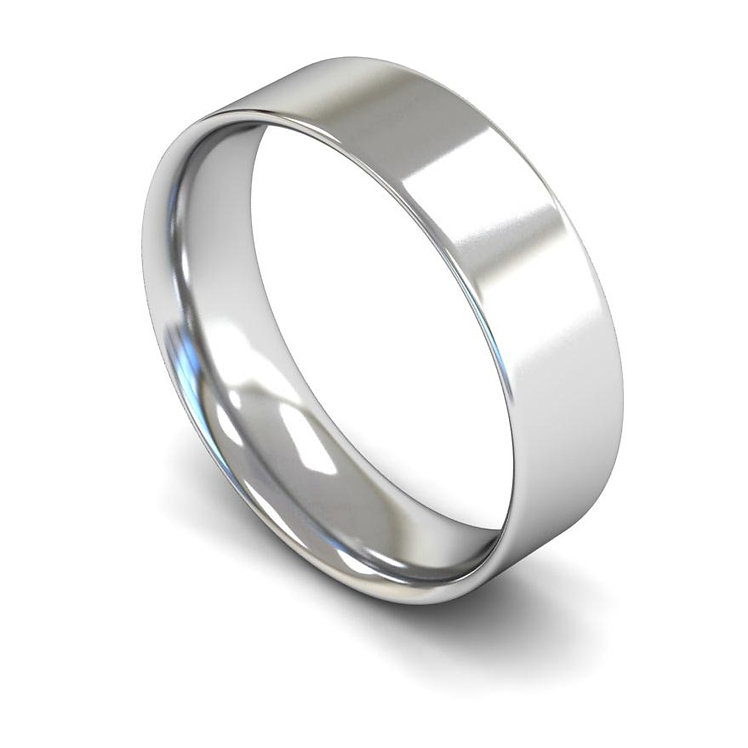 Palladium 6mm Flat Court Wedding Band