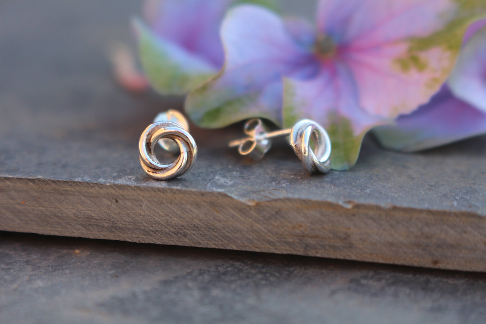Small Celtic Love Knot Studs