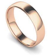 9ct Rose Gold 5mm Traditional Court Wedding Band