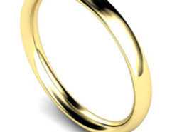 9ct Yellow Gold 2.5mm Traditional Court Wedding Band