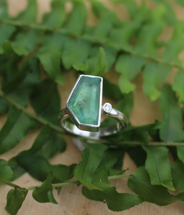 Silver One Off Tourmaline Ring