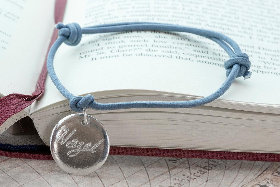 Hand Engraved Disc Charm Bracelet